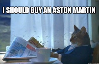 Sophisticated Cat wants an Aston Martin