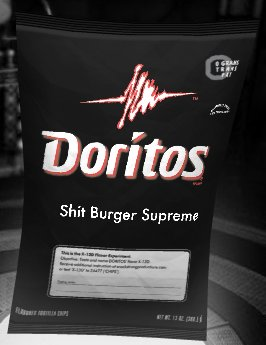 A nice bag of Shitburger Supreme Doritos