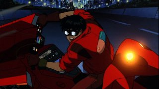Kaneda on his bike