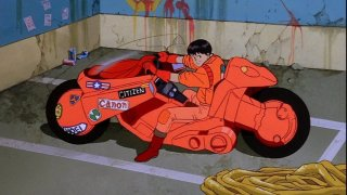 Kaneda and his fancypants bike