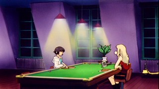 Kirika and Mireille and a pool table