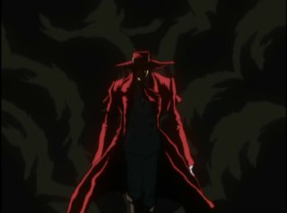 Alucard emerging from the smoke