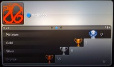 The actual PS3 gamercard, broken down by type of trophy