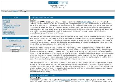 Kaedrin Weblog