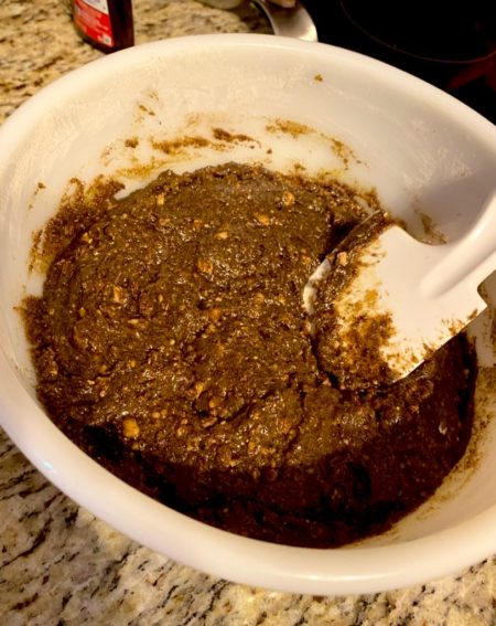 Cookie batter using spent grain flour