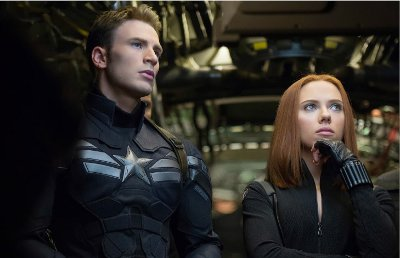 The Cap and Black Widow, just chillin