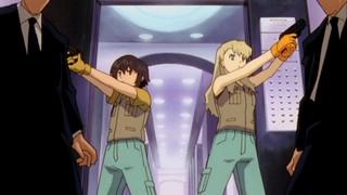 The girls take out some mafia henchmen