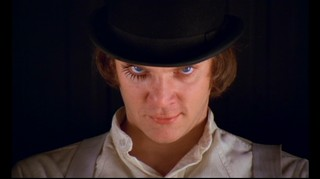 A Clockwork Orange stare