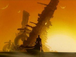 Vash and a fallen ship