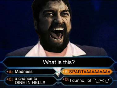 King Leonidas Plays Who Wants to be a Millionaire