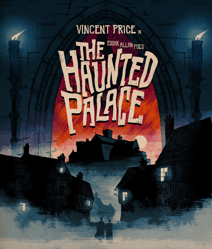 Artwork for the The Haunted Palace BD release