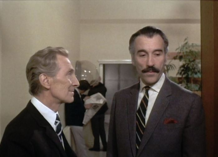 Christopher Lee and Peter Cushing in Nothing But The Night