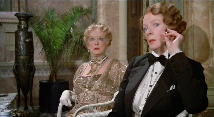 Death on the Nile with Bette Davis and Maggie Smith in a tux