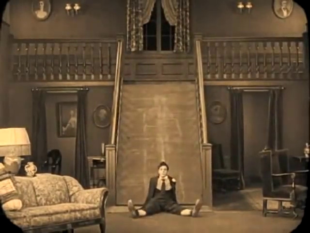 The staircase slide from The Haunted House with Buster Keaton