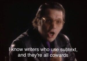 Garth Marenghi comments on other writers